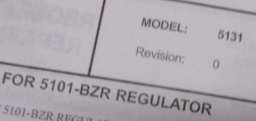 Pyronics Regulator Repair Kit Model 5131
