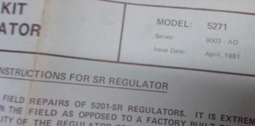 """PYRONICS 5271-6RK-SR Repair Kit for 3/4"""" SR Regulator"""