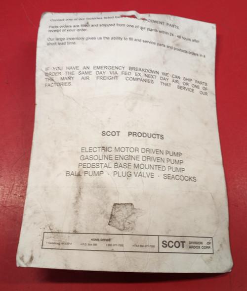 Scot 118.000.383 Pump Motor Repair Kit