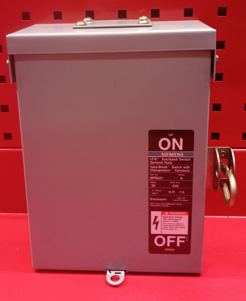 Siemens I-T-E NFR-321 General Duty Enclosed Switch