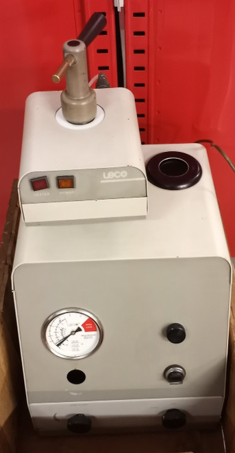 LECO PR-25 Model 814-200 Mounting Press With 807-927-125 Heater/Cooler