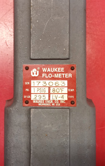 Waukee Engineering LV-4 0-1200CFH Ammonia Flo-Meter