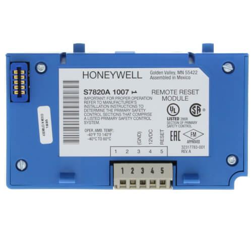 Honeywell S7820A1007 Remote Reset Module