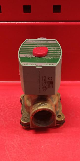 Asco 8030G83 Solenoid Valve 3/4 inch NO 2-Way 120v Brass