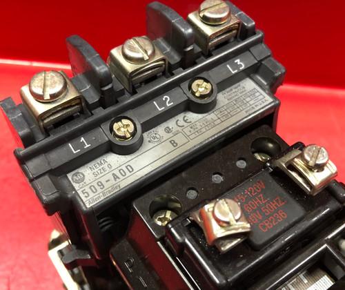 Allen Bradley 509-AOD Starter - Size 0 Series B 49W