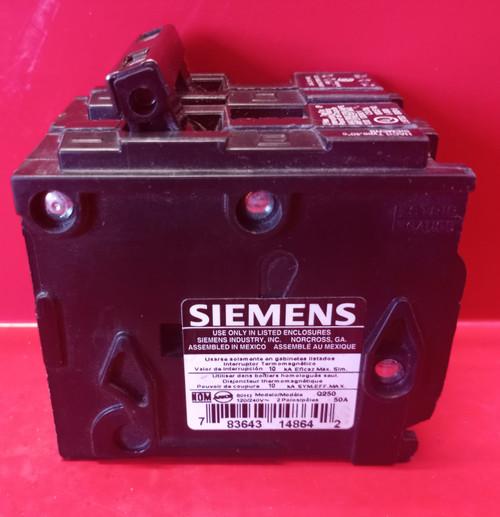SIEMENS 2 Pole 50 Amp HACR Circuit Breaker