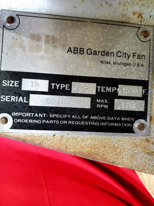 ABB Garden City Fan Size 15 Type RF2 CG-31250 Centrifugal Blower Fan