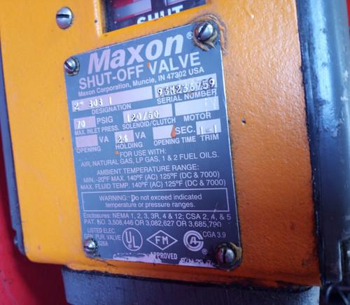 "Maxon 2"" 808-1  Safety Shut-Off Valve - Manual Reset"
