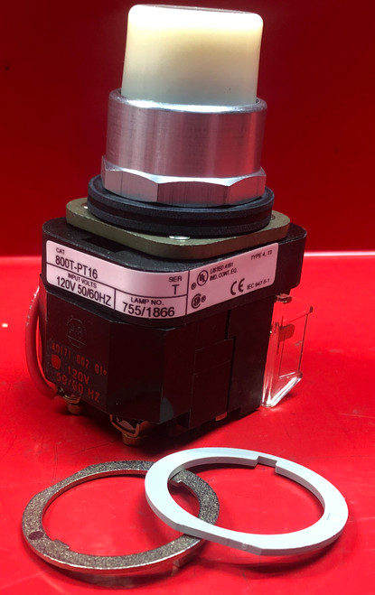 Allen Bradley 800T-PT16W Pilot Light