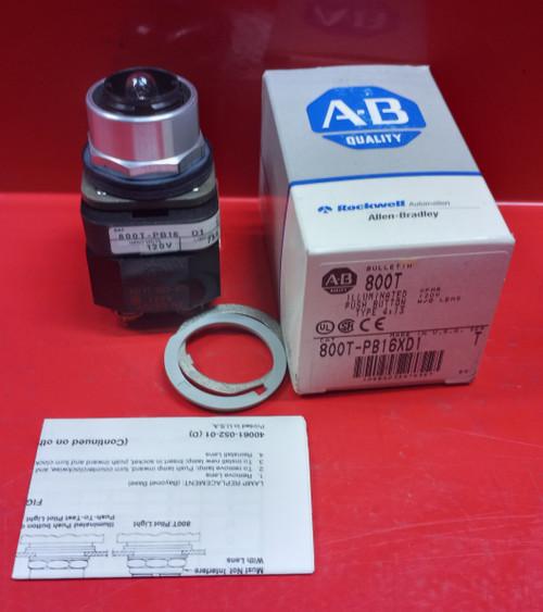 Allen Bradley 800T-PB16XD1 Series T Push Button No Lens