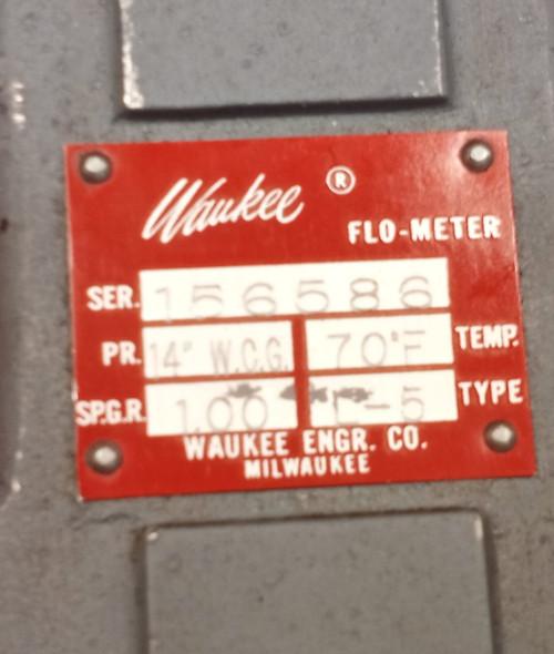 Waukee L-5 Air Flo-Meter 0-1500CFH