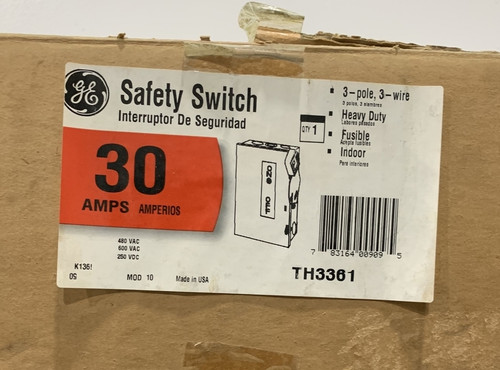 General Electric TH3361 Safety Switch