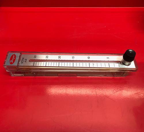 """Dwyer RMC-123 Flow Meter, 10"""" Scale, 3-30 SCFM Air (USED)"""