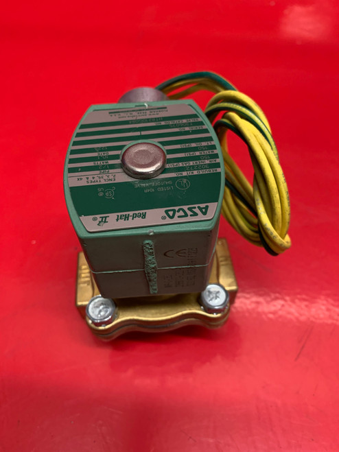 ASCO 120VAC Brass HT8210G094 Solenoid Valve, Normally Closed, 1/2""