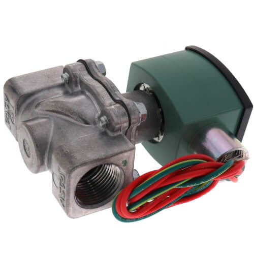 "ASCO 8215G033 120/60AC 2-Way Aluminum 3/4""Solenoid Valve, Normally Open, Air & Vacuum"