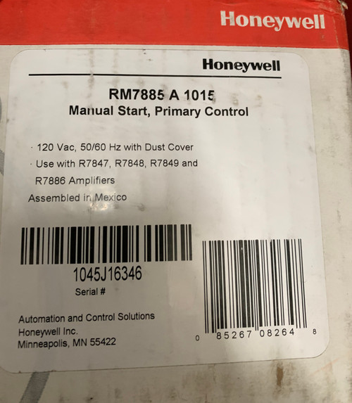 Honeywell RM7885 A 1015 Manual Start Industrial Primary Control