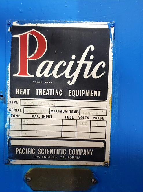 Pacific Scientific 30x48x30 1450°F Electric Temper (S/N 662-0208P)