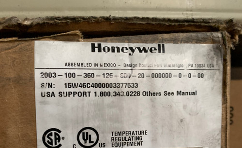 Honeywell 2003-100-360-126-600-20-000C00-0-0-00 Herculine Actuator