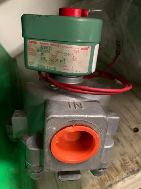 """ASCO 8215C53 1"""" Solenoid Gas Valve, Normally Open"""