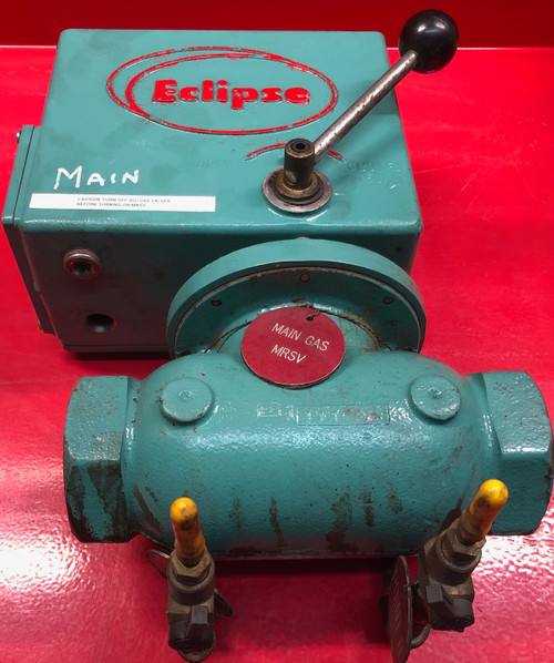 "Eclipse Locktite 206LT-IS-3 Manual Safety Gas Shut-Off Valve  1 1/2"" NPT (USED)"