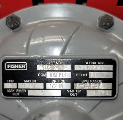 Fisher CS400 Pressure Reducing Regulator (CS400IR)