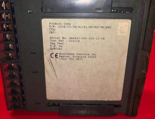 Eurotherm 2208 Temperature Controller 2208/CC/VH/R1/R1/RF/RF/YM/ENG