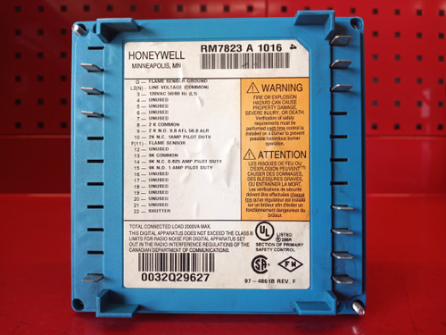 Honeywell RM7823A1016 Flame Detector Control