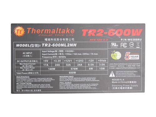 Thermaltake TR2 600W 12V V2.2 Power Supply