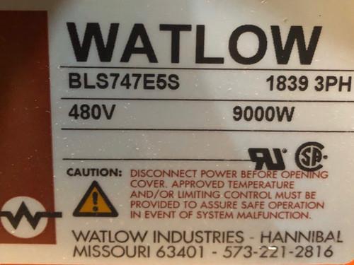 Watlow BLS747E5S 9 KW Screw Plug Immersion Heater