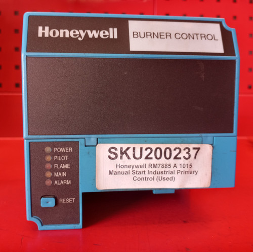 Honeywell RM7885A1015 Manual Start Primary Control (Used)