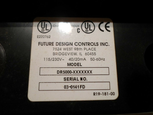 Future Design Controls DR5000 Circular Chart Recorder