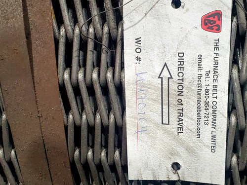 Furnace Belt Company 12in x 100ft 314SS Meshbelt - BEF-36-12-8-10