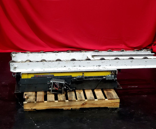 "Surface Combustion 30x48"" Roller Rail Scissor Table"