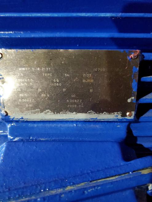 Worldwide Electric T-Frame Motor PEWWE7.5-18-213T, GP, TEFC, Rigid, 3 PH, 213T, 9.3 FLA