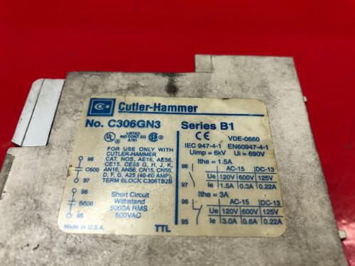 Eaton Cutler Hammer C306GN3 Series B1 Overload Relay