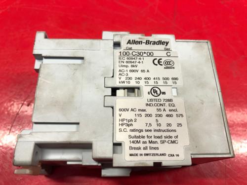 Allen Bradley 100-C30*00 Contactor