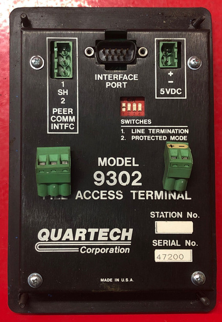 Quartech Model 9302 Numeric Display Station File Access Terminal