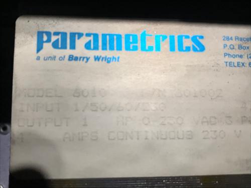 FHP Parametrics PARAJUST AC Motor Control - Model 6010