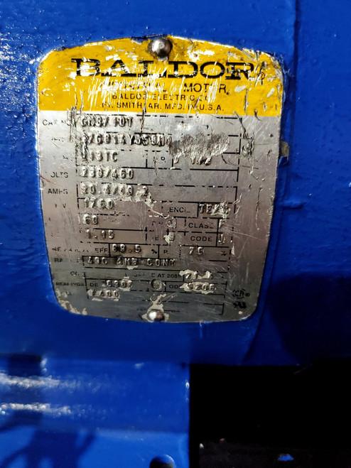 BALDOR 7.5HP 213TC TEFC 3PH MOTOR CM3710T