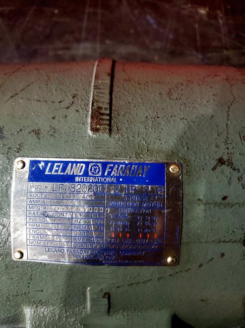 Leland Faraday Motor LFI-82020C, 2HP, 2P, 3450RPM, 145T, 208-230/460vac