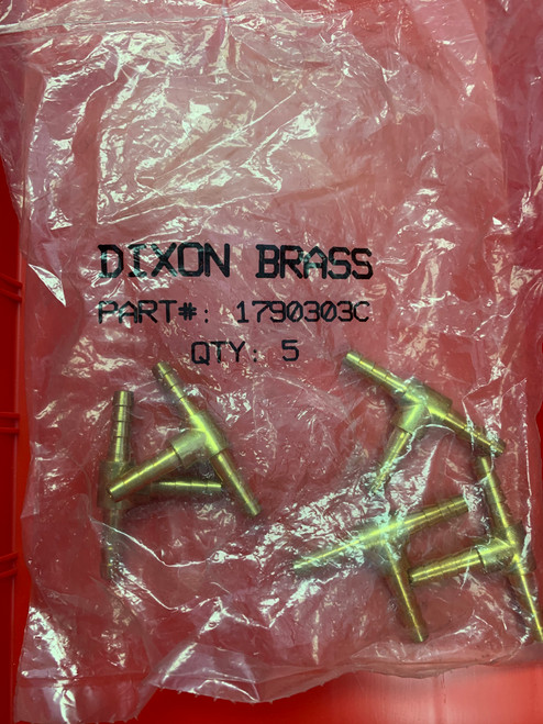 Dixon Valve Barbed Tee Splicer  Part# 1790303C - 5 Pack