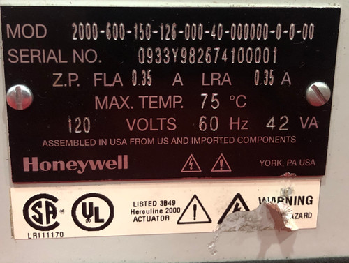 Honeywell Herculine Actuator