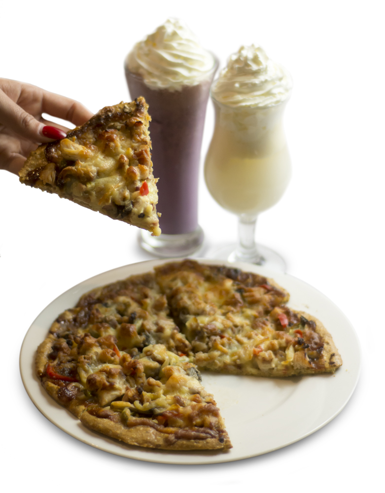 The Ultimate Dinner - BBQ Chicken Pizza and Protein Milkshakes