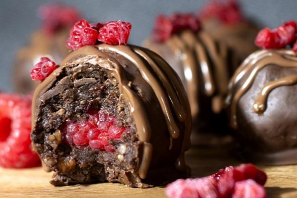 Vegan Choc Berry Truffles