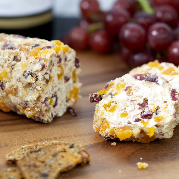 Fruit and Nut Cheese Log