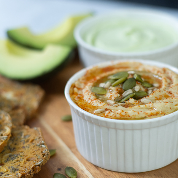 Spiced Hummus and Avocado Dip