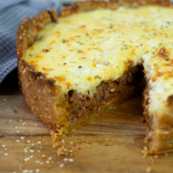 ​Cheesy Keto Meat Pie