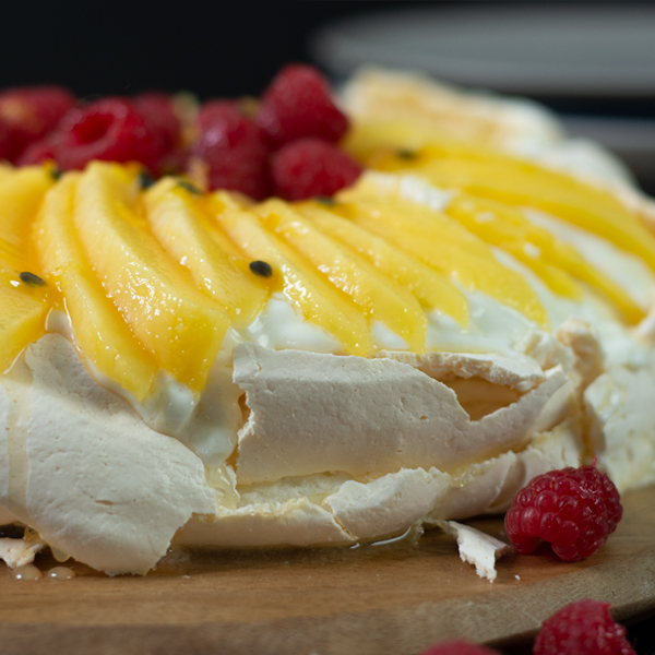 Easy Mango And Berry Protein Pavlova