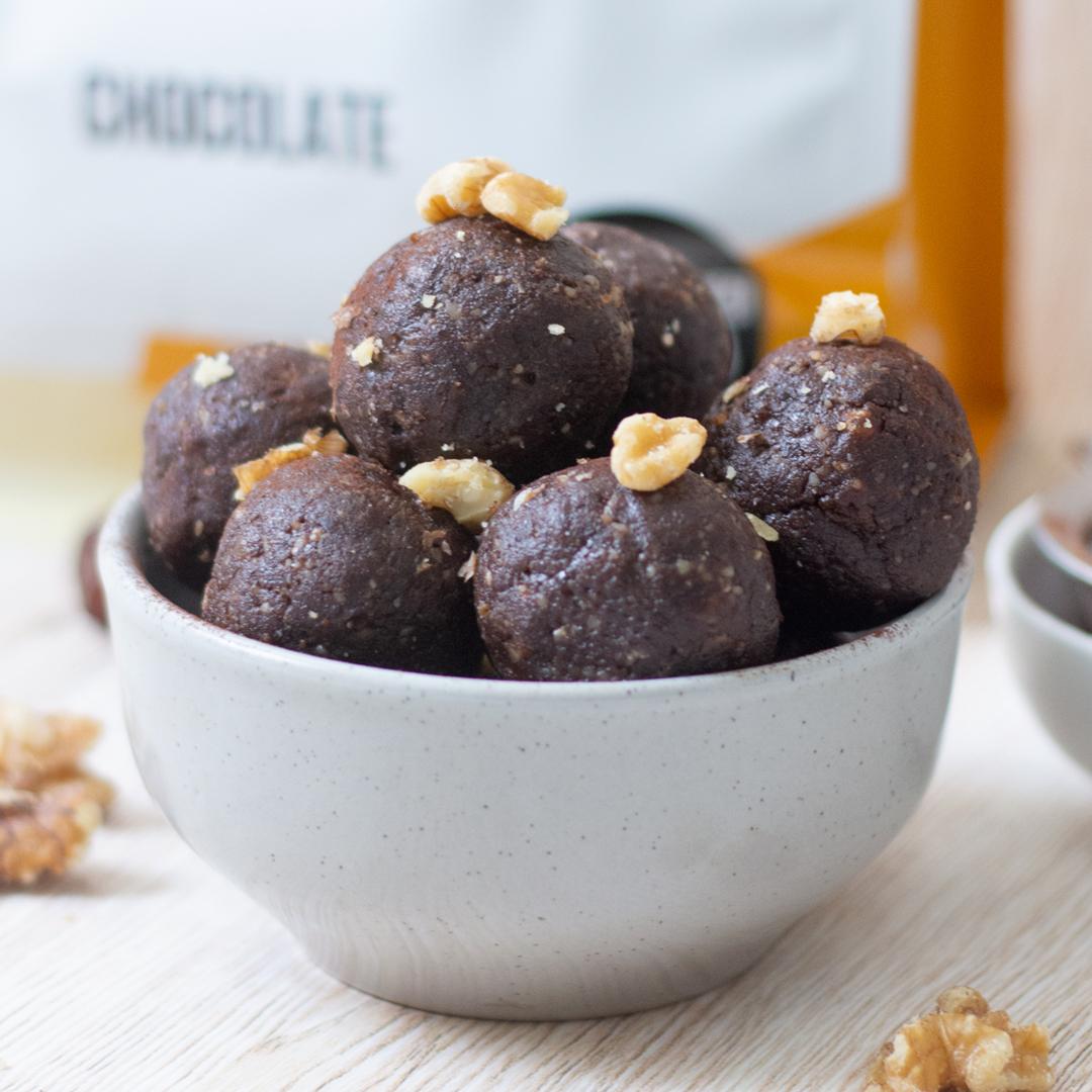 Choc Walnut Truffle Bites
