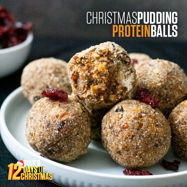 Christmas Pudding Protein Balls